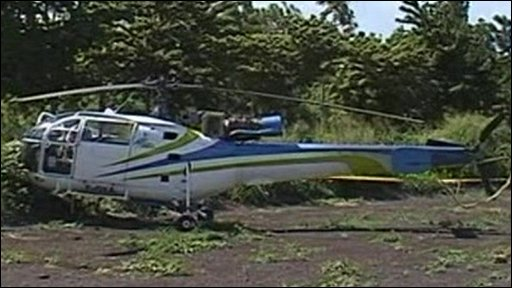 The helicopter used in the escape