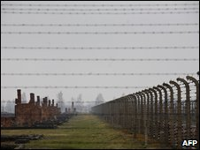 File photo of former Nazi concentration camp at Auschwitz-Birkenau, March 2009