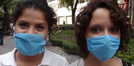 Mexicans with surgical masks