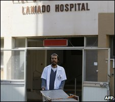 A porter at Laniado Hospital in Netanya