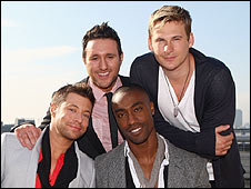 Blue (l-r): Duncan James, Antony Costa, Simon Webbe, Lee Ryan