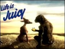 Still from Orangina ad