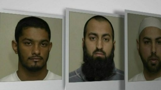 Waheed Ali, 25, Sadeer Saleem, 28, and Mohammed Shakil, 32,