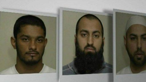 Waheed Ali, 25, Sadeer Saleem, 28, and Mohammed Shakil, 32,