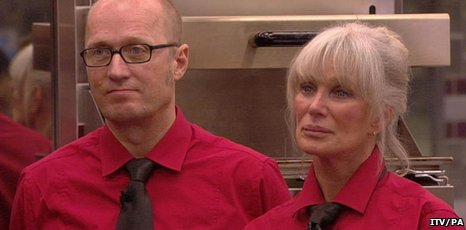 Adrian Edmondson and Linda Evans