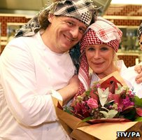 Marco Pierre White and Linda Evans