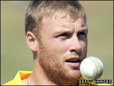 Andrew Flintoff in action for Chennai