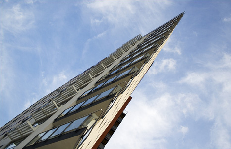 John Taylor sent us this shot of the new Aurora building in Swansea, taken from an unusual angle.