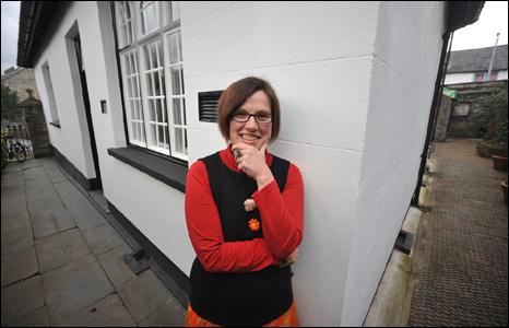 Annette Strauch considers the angles outside Llys Maldwyn in Machynlleth (Mark Robert Davey).