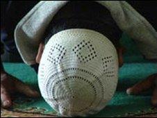 Prayers at a mosque