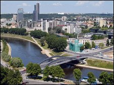 Vilnius, the capital city of Lithuania