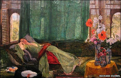Detail of The Siesta, by John Frederick Lewis (1879)