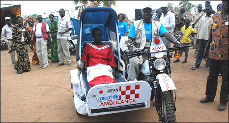 South Sudan motorbike ambulance
