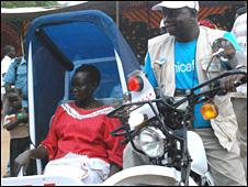 South Sudan motorbike ambulance