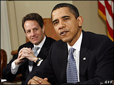 Tim Geithner and Barack Obama
