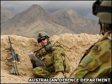 Australian troops in Oruzgan Province, Afghanistan, 7 March 2009 (image: Australian defence department)
