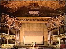 The stage at the Morecambe Winter Gardens
