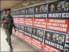 Posters in Colombo protest at Western attempts  to mediate in the war
