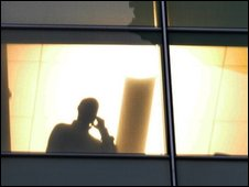 Employee at a window