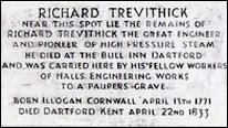 Richard Trevithick memorial stone