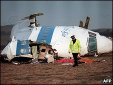 Wreckage from Lockerbie
