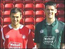 Alex Nicholls and Mark Bradley in the new kit