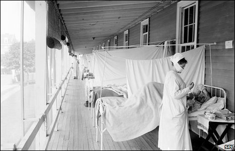 USA Flu ward in 1918