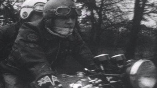 Rockers on motorcycle 1964