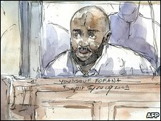 Youssouf Fofana, courtroom sketch