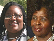 Ida Odinga (L) and Lucy Kibaki