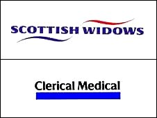 Scottish Widows and Clerical Medical logos