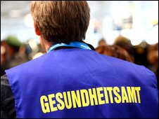 German public health worker