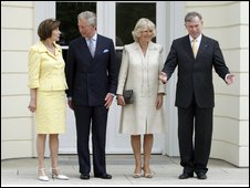 Prince Charles and Camilla in Germany