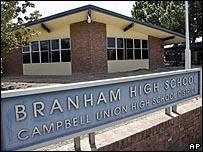 مدرسة ثانوية مغلقة في  سان جوزيه بولاية كاليفورنيا