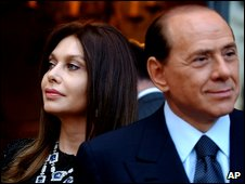Silvio Berlusconi and his wife, Veronica Lario in 2004
