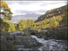 View from Ashness Bridge in the Lake District, Cumbria