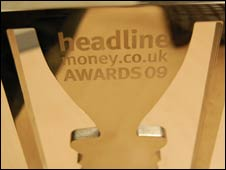 Headlinemoney awards trophy