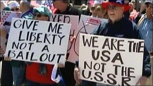 Anti-Obama protesters