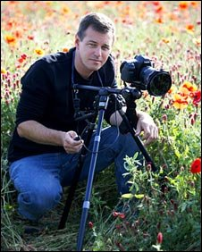 Tom Mackie in poppy field