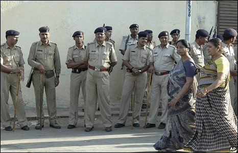 Security in Ahmadabad as women vote