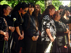 Women at funeral of Jeno Koka