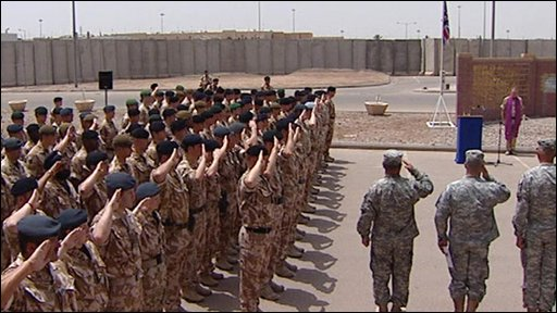 British soldiers at the Basra memorial service