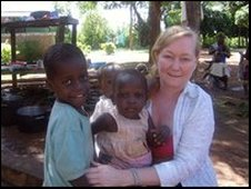 Charline Evans at Salem school in Uganda