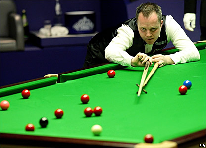 John Higgins in the semi-final