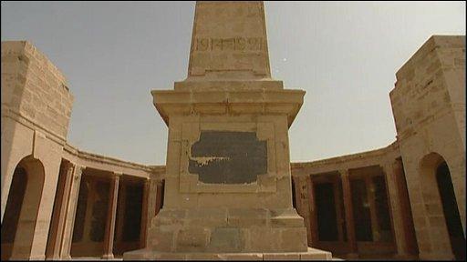 A war memorial
