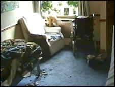 Mary Bennett's charred room