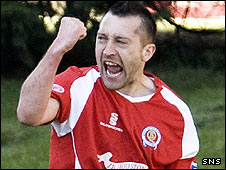 Queen of the South striker Stephen Dobbie