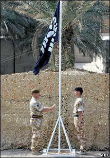 Flag lowering in Basra
