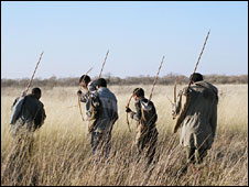 File image of San Bushmen in Namibia