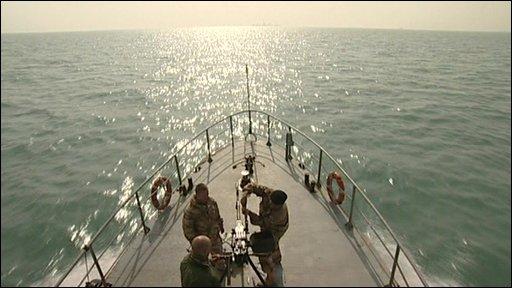 A boat on patrol